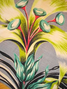 love this vintage barkcloth seen on ebay
