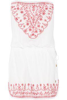 Melissa Odabash|Toya embroidered jersey dress|NET-A-PORTER.COM