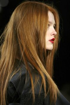Absolutely perfect color of red/auburn hair! Taking this to my colorist - so gorgeous!
