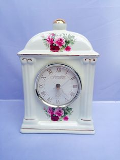 A personal favorite from my Etsy shop https://www.etsy.com/listing/273816000/shabby-chic-ceramic-clock-vintage-clock