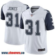 Men's Dallas Cowboys #31 Byron Jones White 2016 Color Rush Stitched NFL Nike Limited Jersey