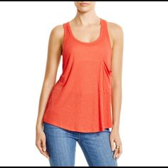 Free People Hot Pocket Tank Free People hot pocket tank in fire. Super cute with a bralette underneath. Brand new with tags! Free People Tops Tank Tops