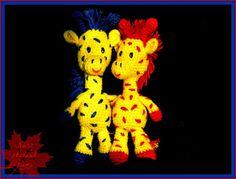 Szydełkowe zabawki - żyrafy