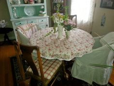 More slipcovers made from dropcloths