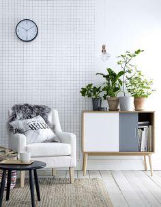 Sisustus - olohuone Nordic Living, Home And Living, Interior Design Plants, Interior Decorating, Living Spaces, Living Room, Sofa Styling, Decoration, Decor Styles
