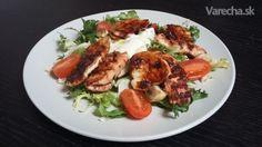 Zeleninový šalát s kuracím mäsom dvoch chutí (fotorecept)