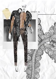 Fashion Sketchbook - fashion design portfolio; creative sketch book layout inspiration
