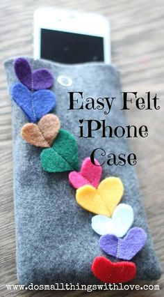 DIY iPhone & iPad Accessories : DIY EASY felt iPhone Case for Valentines Day