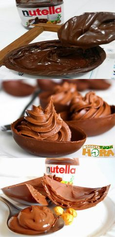 Ovo de Páscoa Recheado com Nutella Oreo, Relleno, Portuguese, Chocolates, Pudding, Foods, Drinks, Desserts, Recipes