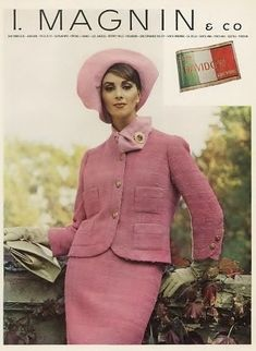 1964   Kristine   Flickr 1969 Fashion, 60s And 70s Fashion, Chanel Fashion, Fashion Photo, Vintage Fashion, Vintage Gowns, Vintage Outfits, Vintage Hats, Vintage Pink