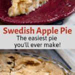 Apple Dessert Recipes, Easy Desserts, Swedish Apple Pie, Healthy Banana Muffins, Easy Pie, Easy Workouts, Apples, Food Ideas, Sweet Treats