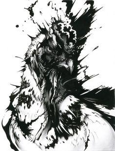 "Untitled — by NekoshowguN, presented at exhibit ""nekoixa"" (2012)"