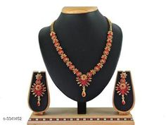 Checkout this latest Jewellery Set Product Name: *New Beautiful Alloy Stone Women's Jewellery Set * Country of Origin: India Easy Returns Available In Case Of Any Issue   Catalog Rating: ★4.2 (6608)  Catalog Name: Elite Stylish Attractive Alloy Women's Jewellery Sets Vol 16 CatalogID_462688 C77-SC1093 Code: 242-3341452-345
