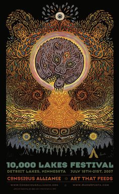 Marq Spusta » 10,000 Lakes Festival – Conscious Alliance Poster