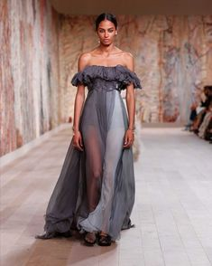 Dior Haute Couture, Evening Dresses, Formal Dresses, Maria Grazia, Outfit Goals, Fall Winter, Autumn, Bodice, Chiffon