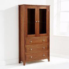 Mountrose  Oakley Display Cabinet, Dark Oak