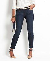 """Curvy Denim Ankle Jeans - Our popular denim ankle jean is back, updated in brand new hues you'll wear all season long. Slightly more fitted at the waist. Our curviest fit, curvy through the hip and thigh and roomier at the back. Front zip with button closure. Belt loops. Classic five-pocket styling. 29"""" inseam."""