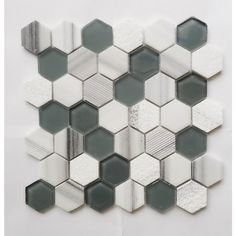 Shop Faber 10-Pack Hexagon 13-in x 13-in Green and White Mix Stone and Glass Mosaic Wall Tile at Lowe's Canada. Find our selection of backsplashes & wall tile at the lowest price guaranteed with price match + 10% off.