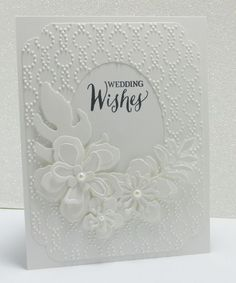 The trick to the gorgeous white-on-white trend in cardmaking.