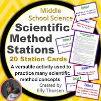Use these stations in your middle school science classroom to practice the scientific method. My students always loved when we did stations! These stations can be reused in many different ways to practice different aspects of the scientific method. Science Resources, Science Lessons, Science Education, Teaching Science, Science Activities, Science Ideas, Science Fun, Physical Science, Life Science