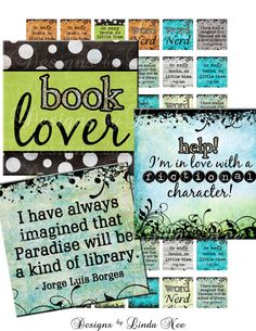 Instant Download  NEW BOOK Nerd 2 1 x 1 inch by DesignsbyLindaNee, $3.95