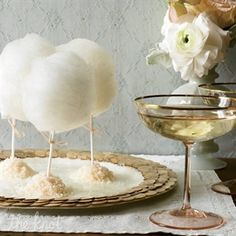 white cotton candy