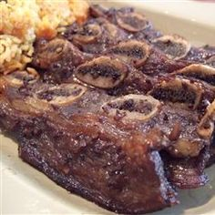 Korean BBQ Short Ribs (Gal-Bi) Recipe (* use quality flank instead for ease. Serve with lettuce leaves, rice and spicy bean paste)  (*also favorite asian marinade for chicken and pork.)