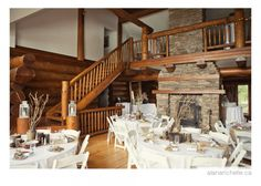 Cheshire Lodge - Rustic Fall Wedding | Mandy and Joseph » [alana richelle photography] Fall Wedding, Wedding Ideas, Log Homes, Montreal, Joseph, Table Settings, Rustic, Photography, Home Decor