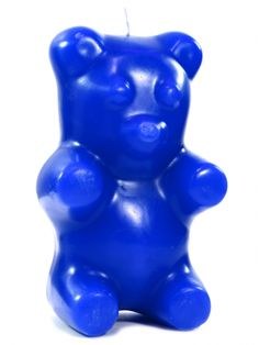 """Gummi Bear"" Skeleton Candle (Blue)"