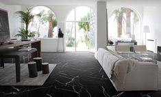 Mate by - Marmo Nero - Living Room Tiles, Tile Trends, Home, Living Room Modern, House Interior, Interior Design, Home And Living, Lavish Home, Italian Villa