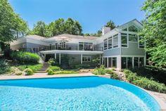 Aluminum Glass Railing overlooking fantastic pool in backyard!