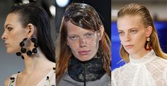 tendance coiffure printemps-été 2017 : Les cheveux wet