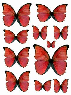 What A Beautiful Mess, Red Butterflies printable