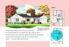 See floor plans and historic advertising flyers for Ranch houses built during the 1950s. Learn about mid-twentieth century housing in the USA.: A Ranch Home for a Narrow Lot