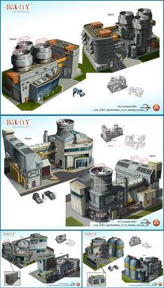 ArtStation - SimCity Concepts, Randall Mackey