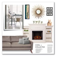 """""""Cool and Collected    Top Home Set Jan 26, 2017"""" by nity01 ❤ liked on Polyvore featuring interior, interiors, interior design, home, home decor, interior decorating, Woody Zoody, Allstate Floral, Jayson Home and TrueModern"""