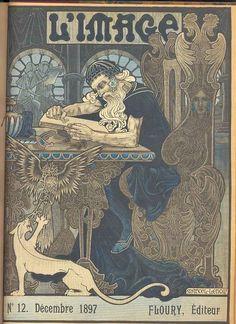 Roger Marx - Jues Rais: L'Image. Revuelitteraire et artistique. Cette Revue a ete publiee par la corporation Francaise des graveurs sur bois. Paris, H. Floury Editeur, 1896/97