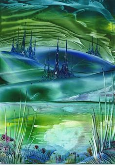 castle valley one of my encaustic art paintings