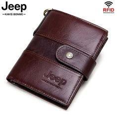 Jeep 100% Cowhide Genuine Leather Wallet Rfid Protection | Kavi`s Fashion – Kavis Wallets