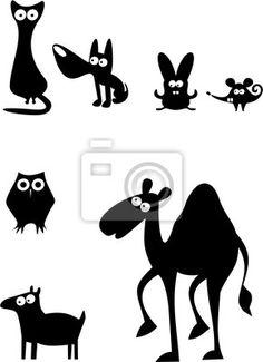 Vinilo para Paredes siluetas de animales 3 - camello • PIXERS.es