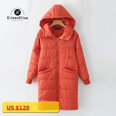 Eileen Elisa Women Coats Hooded Parkas 2017 Casual Thick Women Parka Fashion Autumn Winter Warm Jackets