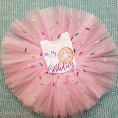 Donut Birthday Tutu 4 piece set-up Customizable to your needs. Donut Birthday Parties, Donut Party, Birthday Party Themes, Birthday Ideas, Girl First Birthday, Baby Birthday, Grown Up Parties, Fiesta Theme Party, Sprinkle Party