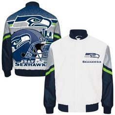 Mens Seattle Seahawks White City Scape Sublimated Jacket d65b726cd