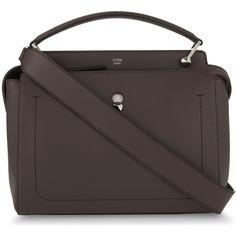 Fendi Dotcom leather shoulder bag (£1,460) ❤ liked on Polyvore featuring bags, handbags, shoulder bags, studded shoulder bag, shoulder strap handbags, leather purses, leather shoulder bag and fendi handbags