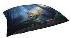 Thumbprintz Fleece Top Large Breed Pet Bed Secret Forest Blue * Learn more by visiting the image link.