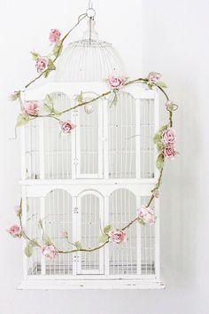 Sweet Shabby Birdcage Repurpose !