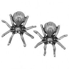 SCJ Sterling Silver Earrings Spider Posts Studs Tiny Mini Tarantula