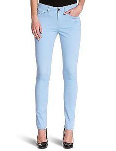UK 12 (Manufacturer Size: L/XL), Bleu (Light Blue), Pieces Women's Leggings