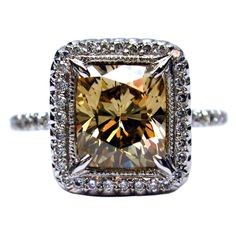 Fancy Orange-Brown Cushion Cut Diamond Ring  - love the diamond. The mounting, not so much.