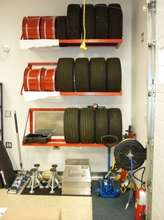 Neat tire storage...cool